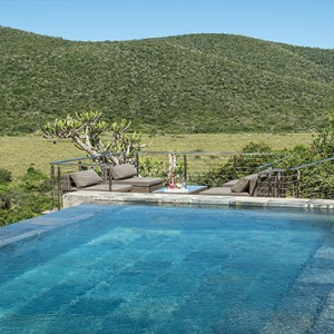 Kariega Game Reserve - Luxury South Africa Honeymoon Packages - Settlers drift pool