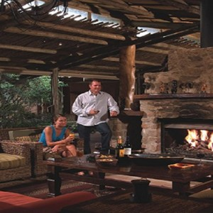 Kariega Game Reserve - Luxury South Africa Honeymoon Packages - Uzokhi Lodge fireplace