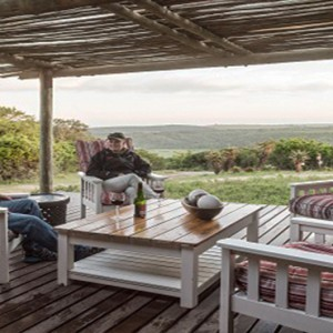 Kariega Game Reserve - Luxury South Africa Honeymoon Packages - Uzokhi Lodge sun deck