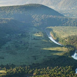 Kariega Game Reserve - Luxury South Africa Honeymoon Packages - aerial view of the safari
