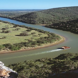Kariega Game Reserve - Luxury South Africa Honeymoon Packages - cruising down river