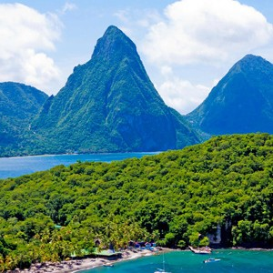Luxury-Holidays-St-Lucia-Anse-Chastanet-Aerial