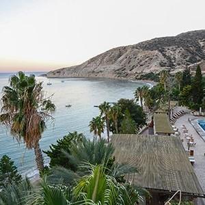 honeymoon packages cyprus - Columbia Beach Hotel Pissouri - beach panorama