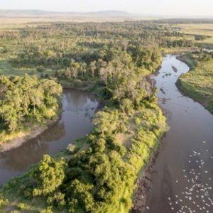South Africa Honeymoon Packages Governors Camp, Kenya Masai Mara Aerial View