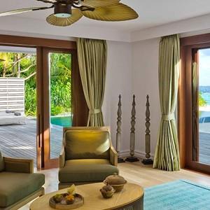 Dusit Thani Maldives - Two bedroom beach residence lounge