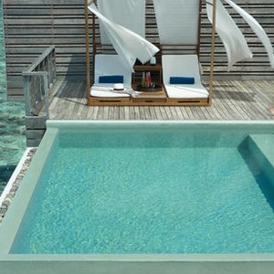 honeymoon packages - Maldives - Dusit Thani - Pool by Sea