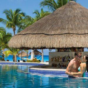 Mexico Honeymoon Packages Secrets Aura Cozumel Pool Bar