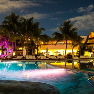 grand velas riviera - honeymoon packages - mexico - night pool