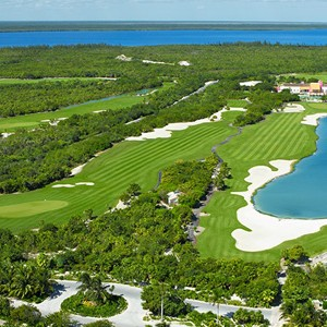 secrets playa mujeres - mexico honeymoon packages - golf complex