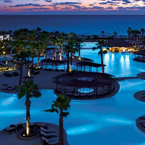 secrets playa mujeres - mexico honeymoon packages - night