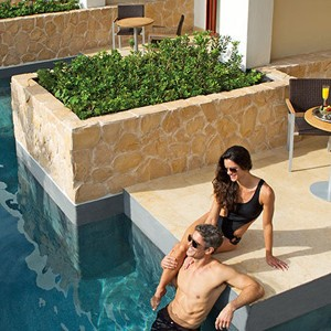 secrets playa mujeres - mexico honeymoon packages - swim out suite