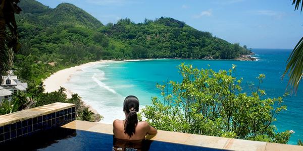 Banyan Tree Seychelles - pool view