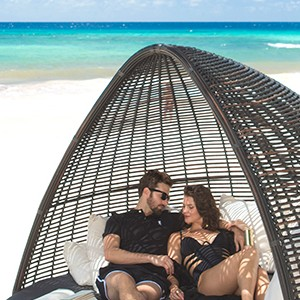 Beach loungers - Sandals Barbados - Luxury Barbados Honeymoon Packages