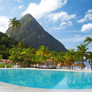 honeymoon packages St Lucia - Sugar Beach Hotel - pool