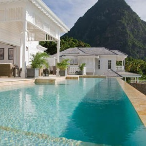 honeymoon packages St Lucia - Sugar Beach Hotel - private pool
