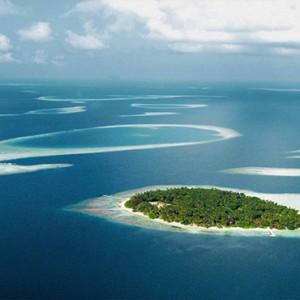 Maldives Honeymoon Packages Biyadhoo Island Aerial View