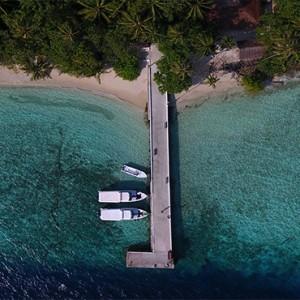 Maldives Honeymoon Packages Biyadhoo Island Aerial View Of Jetty