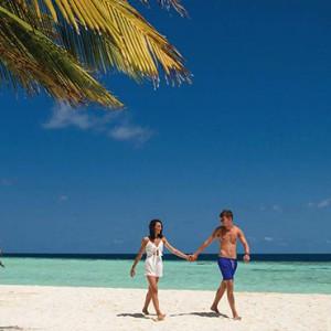 Maldives Honeymoon Packages Biyadhoo Island Romantic Stroll On Beach
