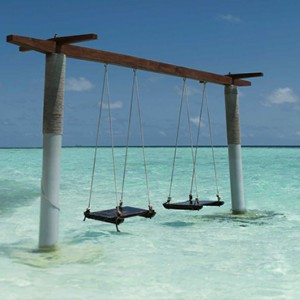 Maldives Honeymoon Packages Biyadhoo Island Swings In The Lagoon