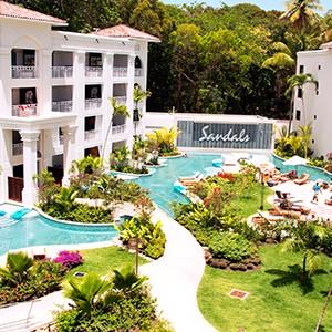 Swim up suite - Sandals Barbados - Luxury Barbados Honeymoon Packages
