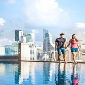 Thailand Honeymoon Packages Rembrandt Hotel Bangkok Couple Walking By Pool