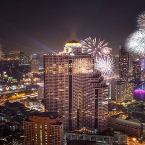 Thailand Honeymoon Packages Lebua At State Tower Fireworks At Night Exterior