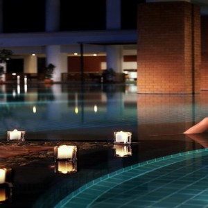 Thailand Honeymoon Packages Lebua At State Tower Pool At Night1