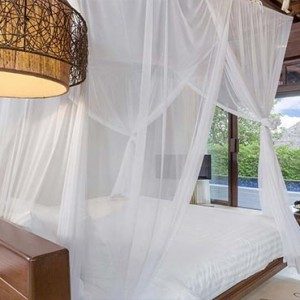 The Vijitt - Luxury Thailand Honeymoon Packages - Deluxe Pool Villa bedroom view