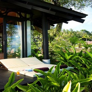 The Vijitt - Luxury Thailand Honeymoon Packages - Deluxe villa exterior sun deck