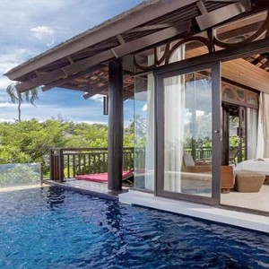 The Vijitt - Luxury Thailand Honeymoon Packages - Prime Pool Villa pool and bedroom view