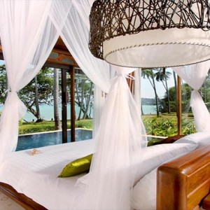 The Vijitt - Luxury Thailand Honeymoon Packages - Vijitt Pool Villa bedroom view