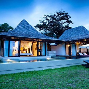 The Vijitt - Luxury Thailand Honeymoon Packages - Vijitt Pool Villa exterior at night