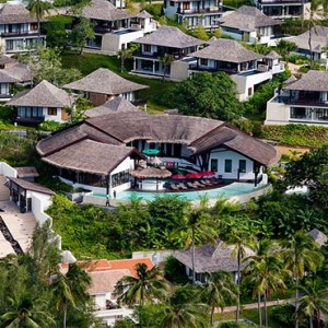The Vijitt - Luxury Thailand Honeymoon Packages - aerial view