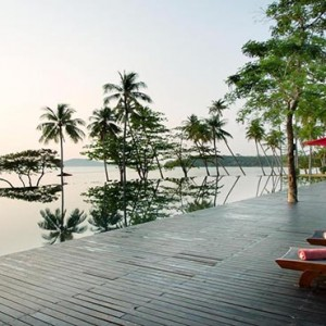 The Vijitt - Luxury Thailand Honeymoon Packages - pool and sun loungers