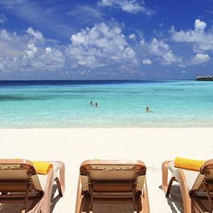 centara ras fushi - maldives honeymoon packages - beach