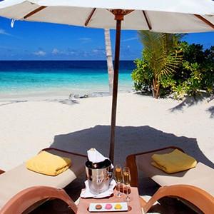 centara ras fushi - maldives honeymoon packages - ocean front beach villa