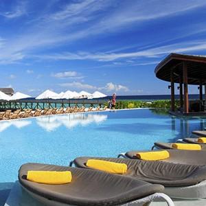centara ras fushi - maldives honeymoon packages - pool