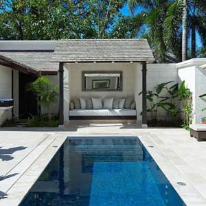 coral reef club - barbados honeymoon packages - spa pool