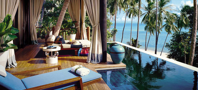 four seasons koh samui - thailand honeymoon packages - deck