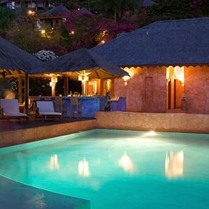 laluna resort - grenada honeymoon packages - pool restraunt