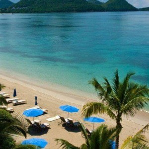 the landings hotel - st lucia honeymoon packages - beach