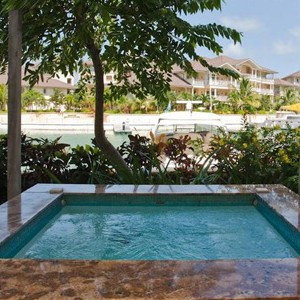 the landings hotel - st lucia honeymoon packages - private plunge pool