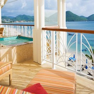 the landings hotel - st lucia honeymoon packages - suite