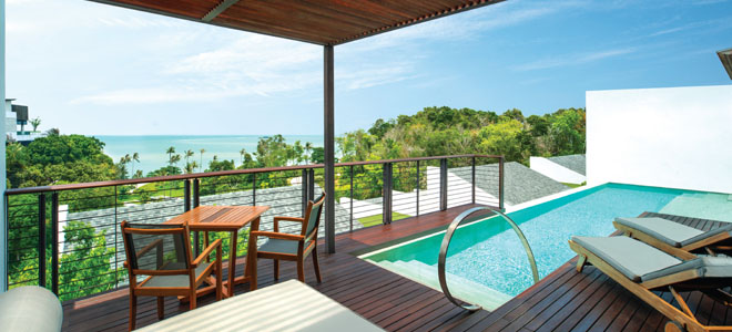 w retreat koh samui - thailand honeymoon packages - terrace 2