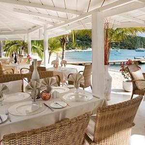 Antigua honeymoon packages - The Inn - dining