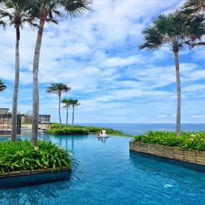 alila uluwatu - bali honeymoon packages - pool view