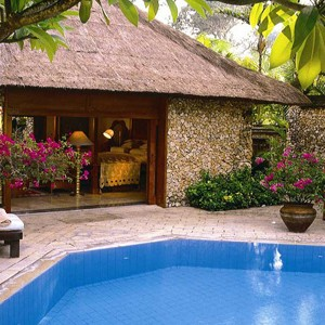 the oberoi bali - bali honeymoon packages - private pool