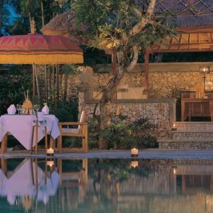 the oberoi bali - bali honeymoon packages - romantic dinner