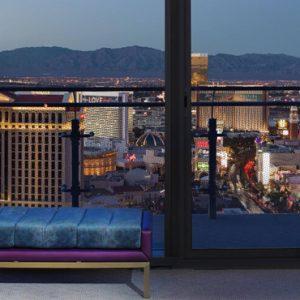Las Vegas honeymoon Packages Cosmopolitan Las Vegas Wrap Around Terrace Fountain View