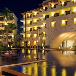 Mexico Honeymoon Packages Secrets Akumal Riviera Maya Exterior Night 2